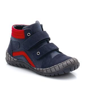 Ботинки кожаные на планке-велкро La Redoute Collections. Цвет: синий морской