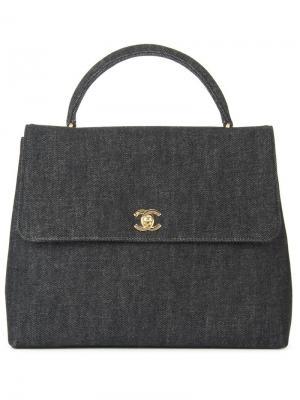 Джинсовая сумка-тоут Chanel Vintage. Цвет: чёрный