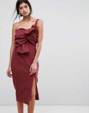 C/meo Collective Платье. Цвет: красный
