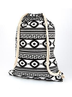 Сумка пляжная Орнамент Русские подарки. Цвет: белый, бежевый, черный