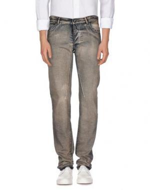 Джинсовые брюки DRKSHDW BY RICK OWENS. Цвет: песочный