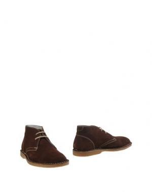 Полусапоги и высокие ботинки ZEN. Цвет: какао