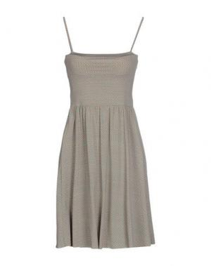 Короткое платье SIYU. Цвет: серый