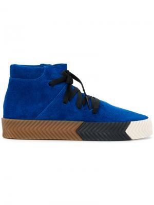 Кеды Skate Mid Adidas Originals By Alexander Wang. Цвет: синий