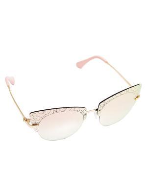Очки Kameo-bis. Цвет: розовый,золотистый