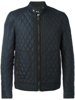 Стеганая куртка-бомбер Belstaff. Цвет: синий