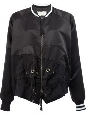Лоскутная куртка-бомбер Greg Lauren. Цвет: чёрный