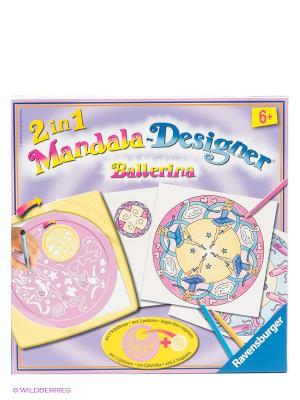 Набор для творчества Мандала Балерины Ravensburger. Цвет: желтый, бледно-розовый