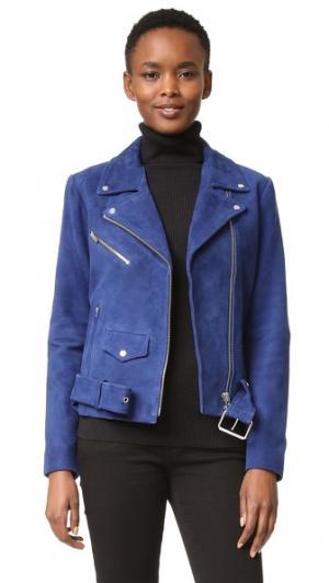 Замшевая куртка Jayne VEDA. Цвет: сапфир