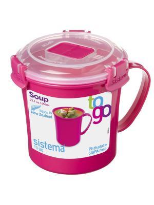 Кружка суповая 656мл TO-GO Sistema. Цвет: красный