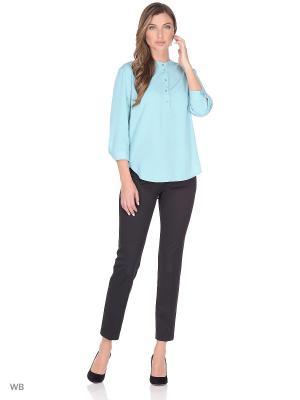 Блузка FLEURETTA. Цвет: бирюзовый