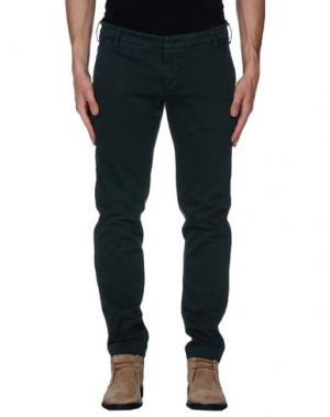 Повседневные брюки ENTRE AMIS. Цвет: темно-зеленый
