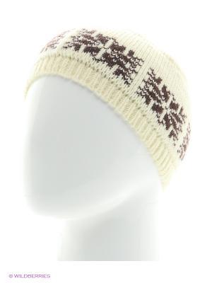 Шапка со снежинкой Непростые вещи. Цвет: молочный, коричневый