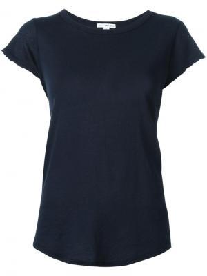Базовая футболка James Perse. Цвет: синий
