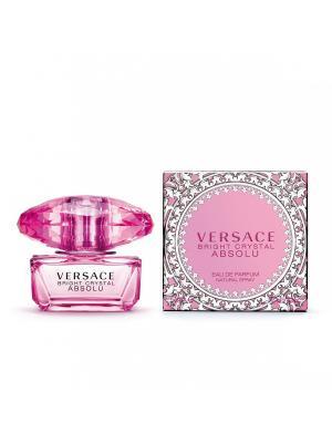 Туалетная вода Bright Crystal Absolu, 50мл Versace. Цвет: розовый