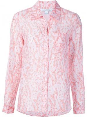 Рубашка с морским принтом Diane Von Furstenberg. Цвет: розовый и фиолетовый