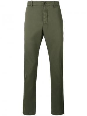 Классические брюки-чинос YMC. Цвет: зелёный