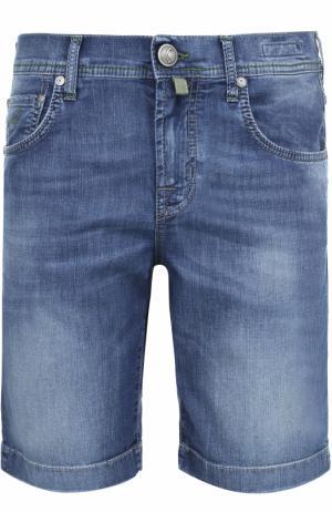 Шорты джинсовые +платок Jacob Cohen. Цвет: синий