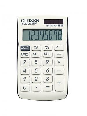 Калькулятор карманный SLD-7708 8 разрядов, двойное питание, 68*112*7 мм, белый CITIZEN. Цвет: черный, белый