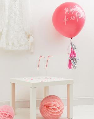Ginger Ray Воздушный шар с кисточками Til Death Do Us Party. Цвет: мульти