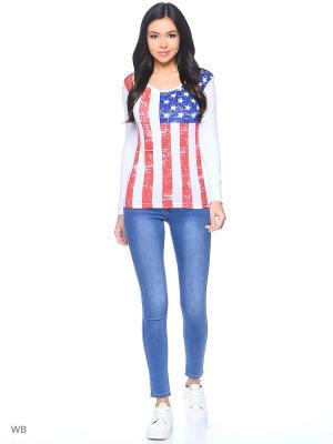 Лонгслив Американский флаг Stella. Цвет: белый