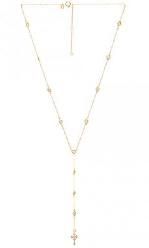 Цепочка с крестиком joolz by Martha Calvo. Цвет: металлический золотой