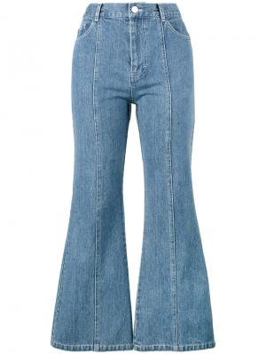Расклешенные джинсы Tinder Sandy Liang. Цвет: синий