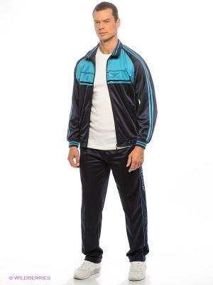Спортивный костюм Montana. Цвет: бирюзовый, синий