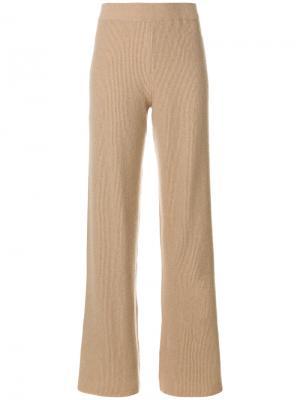 Широкие вязаные брюки Nanushka. Цвет: коричневый