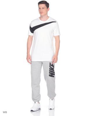 Футболка M NSW TEE DRPTL OVRSZ SWSH Nike. Цвет: белый, черный