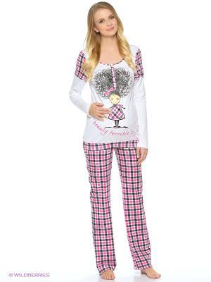 Пижама impressmama. Цвет: белый, сиреневый