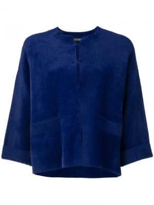Пиджак с укороченными рукавами Twin-Set. Цвет: синий