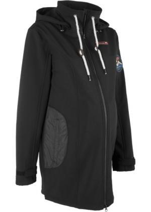 Куртка-софтшелл для беременных (черный) bonprix. Цвет: черный