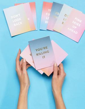 BAN DO Набор из 10 открыток Good Vibes. Цвет: мульти