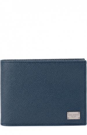 Кожаное портмоне с отделением для кредитный карт Dolce & Gabbana. Цвет: синий