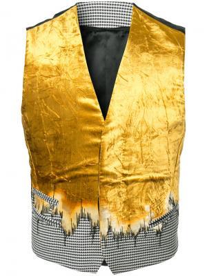 Жилет с градиентным узором Haider Ackermann. Цвет: жёлтый и оранжевый