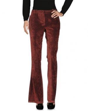 Повседневные брюки KILTIE. Цвет: ржаво-коричневый