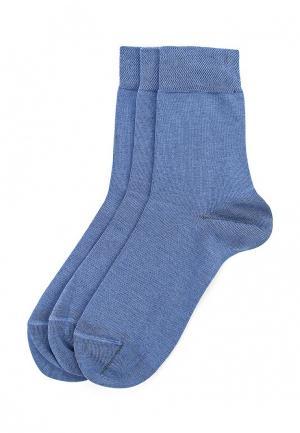 Комплект носков 3 пары Брестские. Цвет: синий