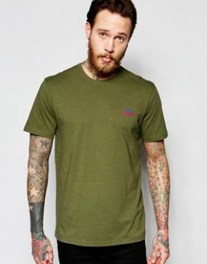 Penfield Оливковая эксклюзивная футболка с логотипом гор. Цвет: зеленый