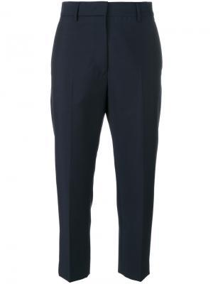 Классические укороченные брюки Jil Sander. Цвет: синий