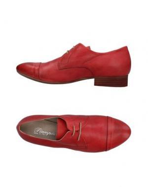 Обувь на шнурках PIAMPIANI. Цвет: красный