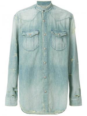Джинсовая рубашка Balmain. Цвет: синий