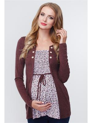 Блузон TUTTA MAMA. Цвет: светло-коричневый, розовый