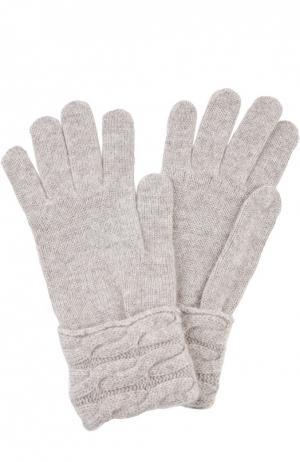 Вязаные перчатки из кашемира Kashja` Cashmere. Цвет: бежевый
