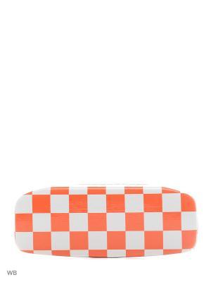 Футляр для очков Vittorio Richi. Цвет: оранжевый, белый