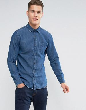 Jack & Jones Джинсовая рубашка. Цвет: темно-синий
