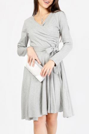 Платье LESARA. Цвет: серый