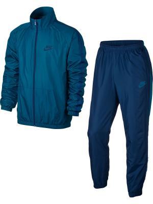 Спортивный костюм M NSW TRK SUIT WVN SEASON Nike. Цвет: синий, бирюзовый
