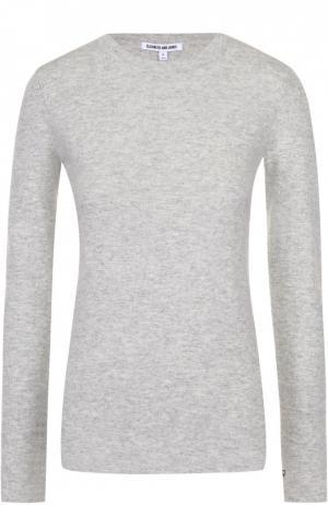 Шерстяной пуловер с круглым вырезом и длинным рукавом Elizabeth and James. Цвет: светло-серый