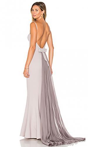 Вечернее платье abigail Elle Zeitoune. Цвет: серый